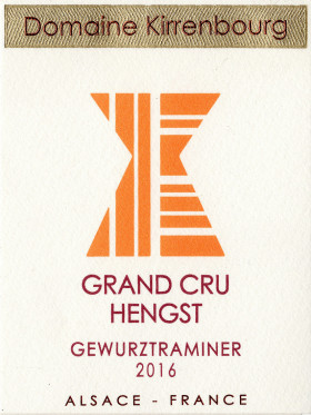 Gewurztraminer - Grand Cru Hengst 2016
